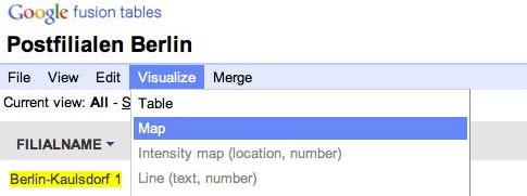 google fusion tables tutorial