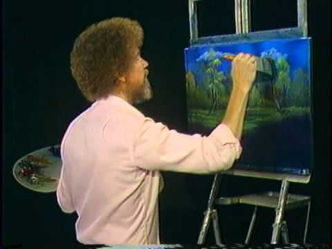 bob ross watercolor tutorial