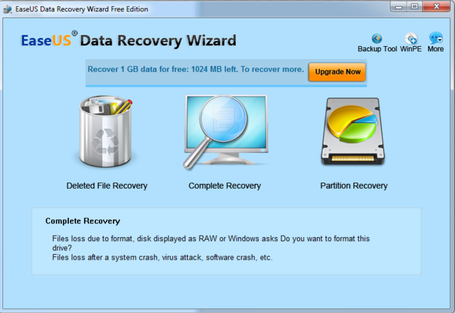 easeus data recovery tutorial