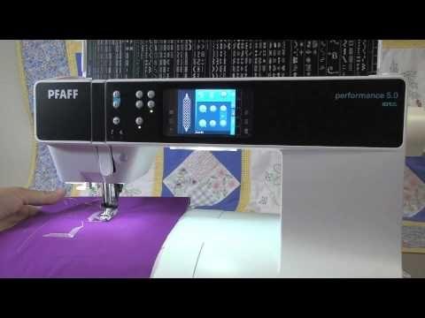 pfaff free motion quilting tutorial