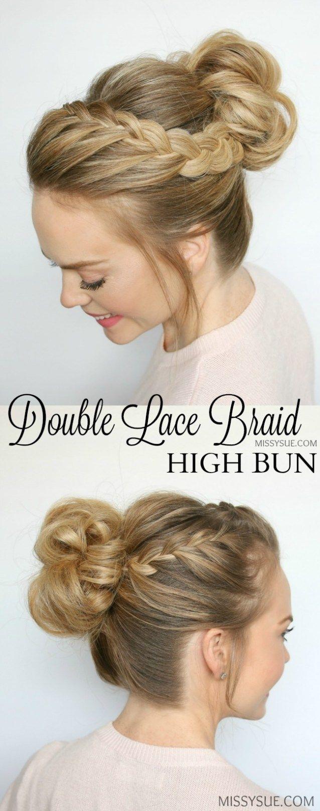 box braids high bun tutorial