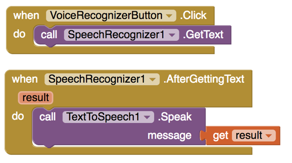 app inventor speech recognizer tutorial