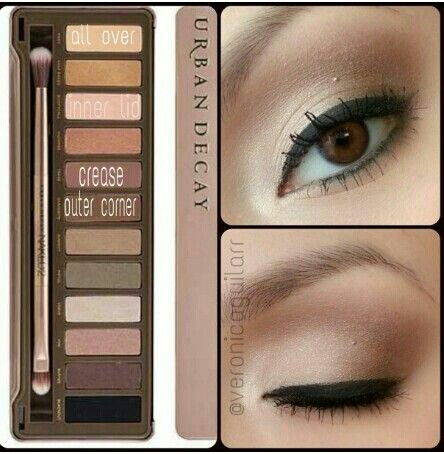 urban decay naked palette naked eyes tutorial