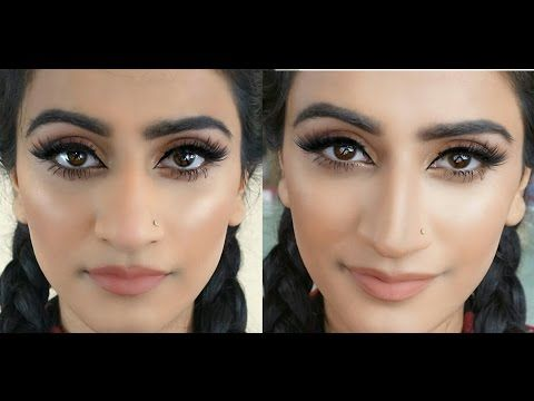 makeup tutorial to make nose look smaller