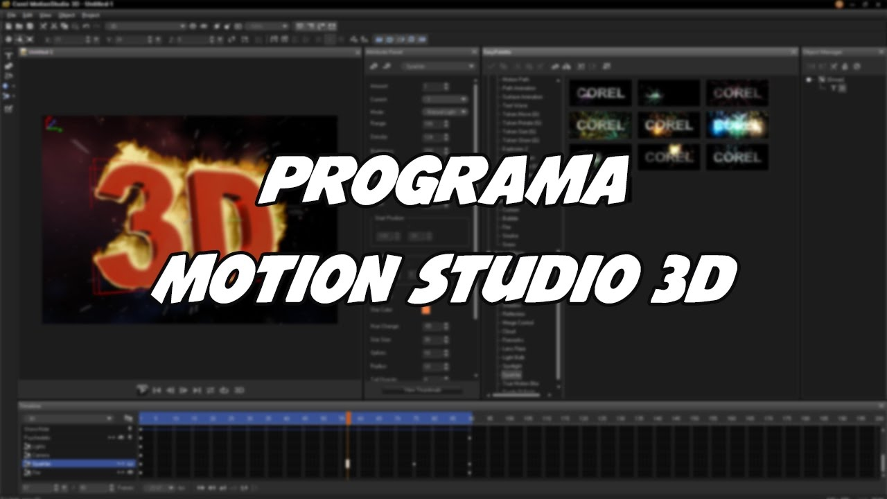 corel motion studio 3d tutorial