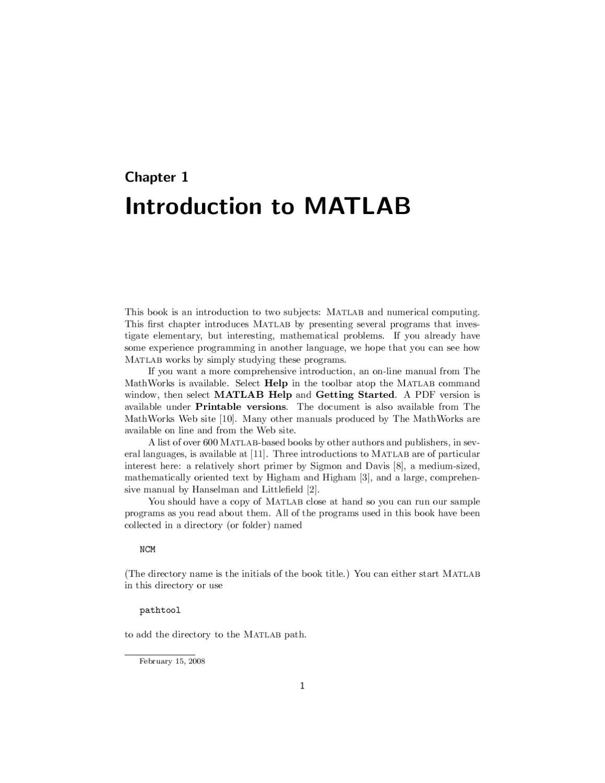 mathworks matlab tutorial pdf