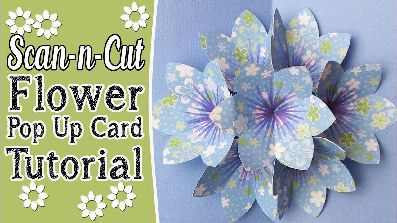 flower pop up card tutorial
