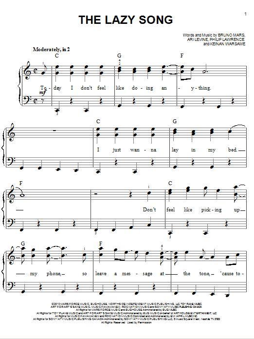 bruno mars lazy song ukulele tutorial