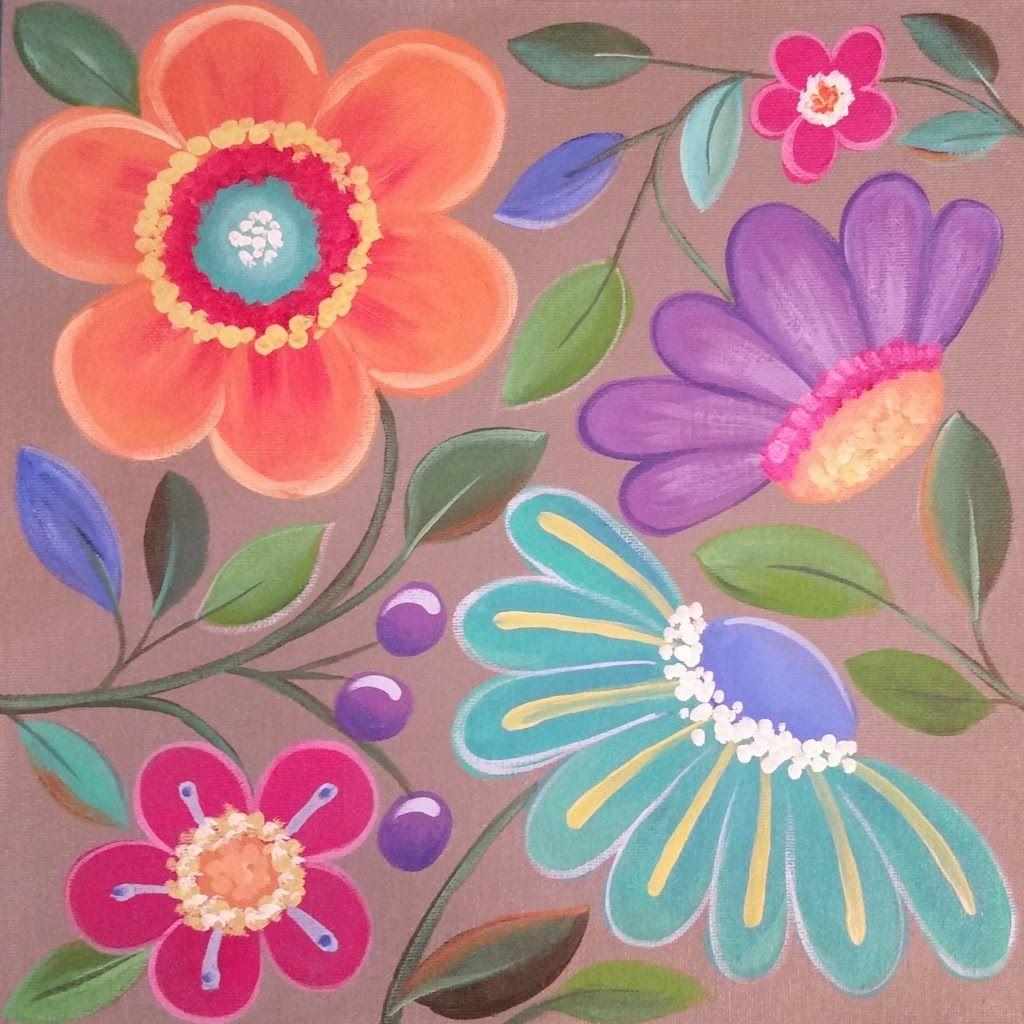 simple flower painting tutorial