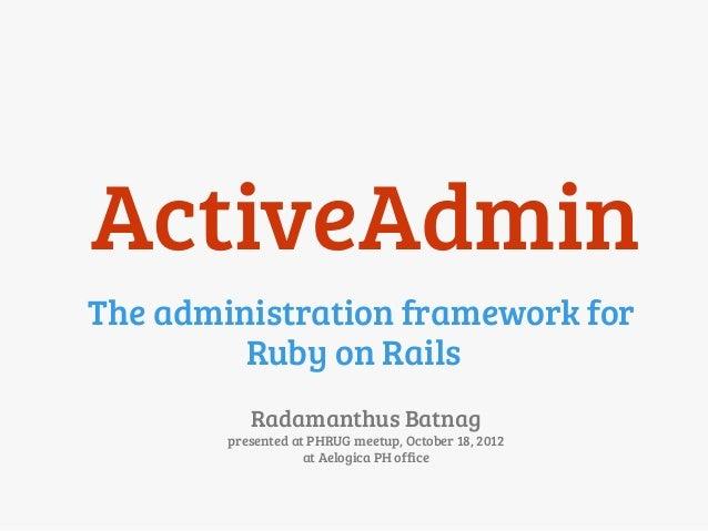 ruby on rails admin tutorial
