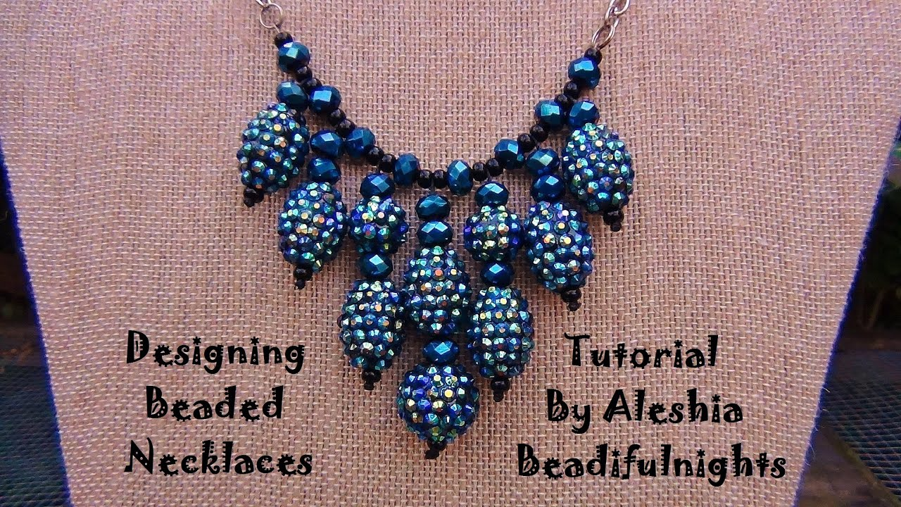 cluster bead necklace tutorial