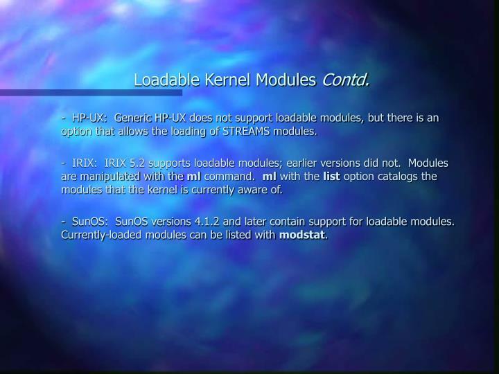 loadable kernel module tutorial