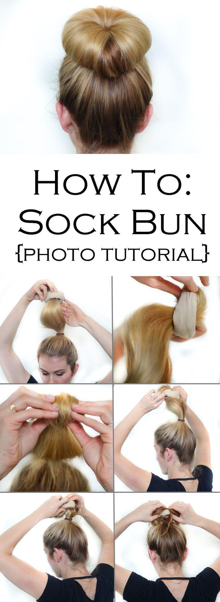 messy sock bun tutorial