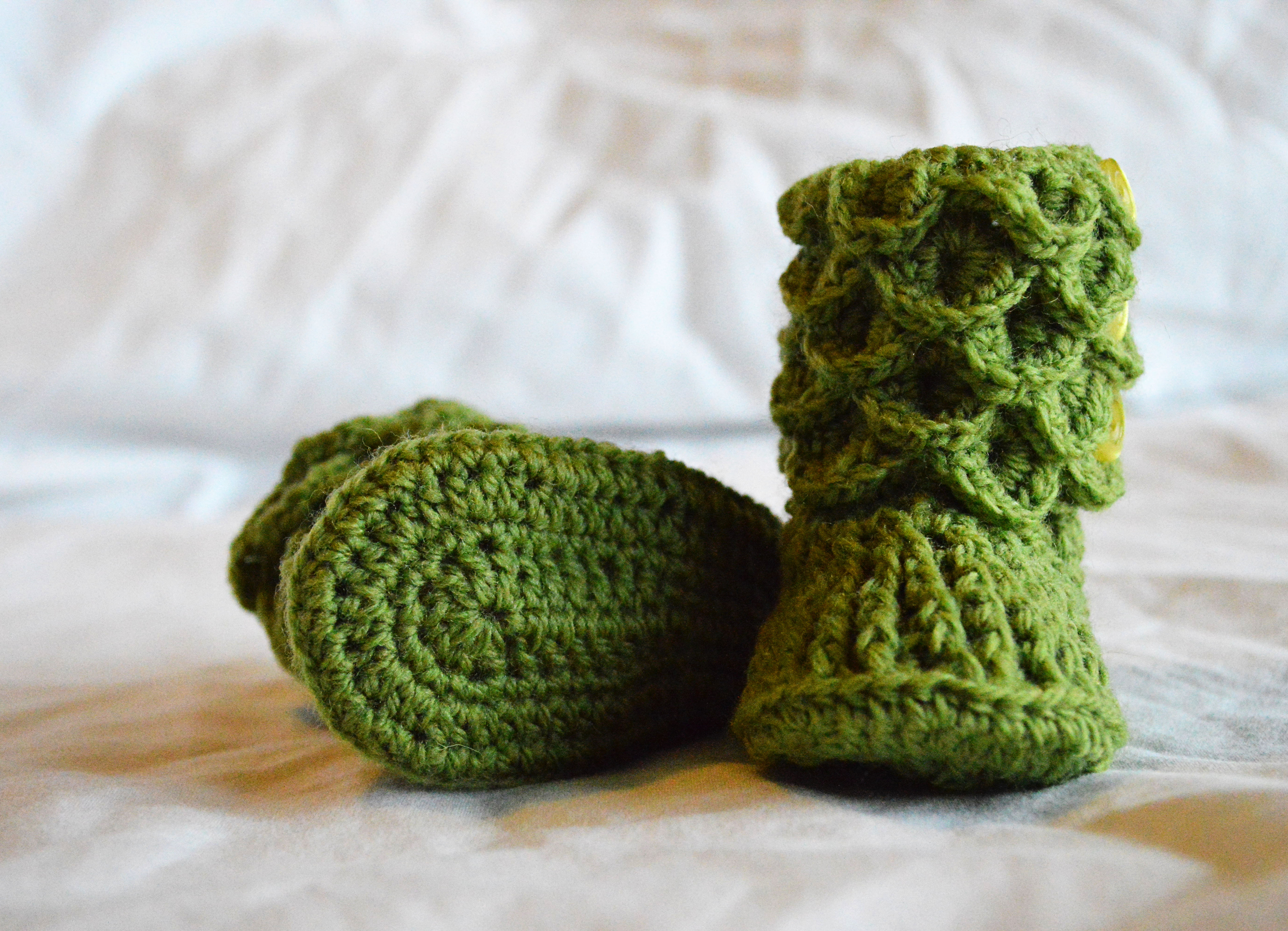 crocodile stitch booties tutorial