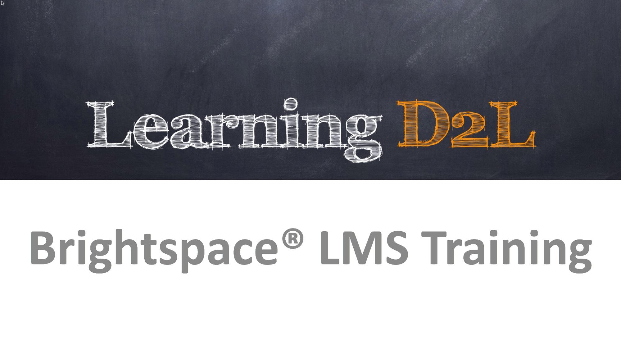 d2l tutorial for instructors