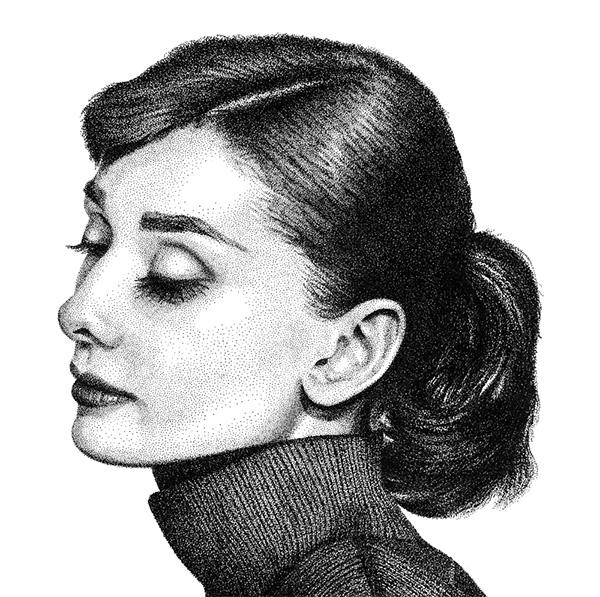 audrey hepburn drawing tutorial