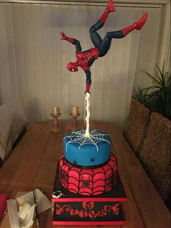 spiderman fondant cake tutorial