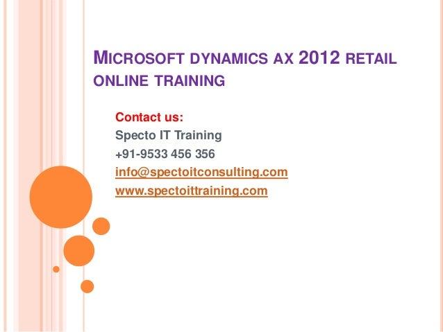 microsoft dynamics online tutorial
