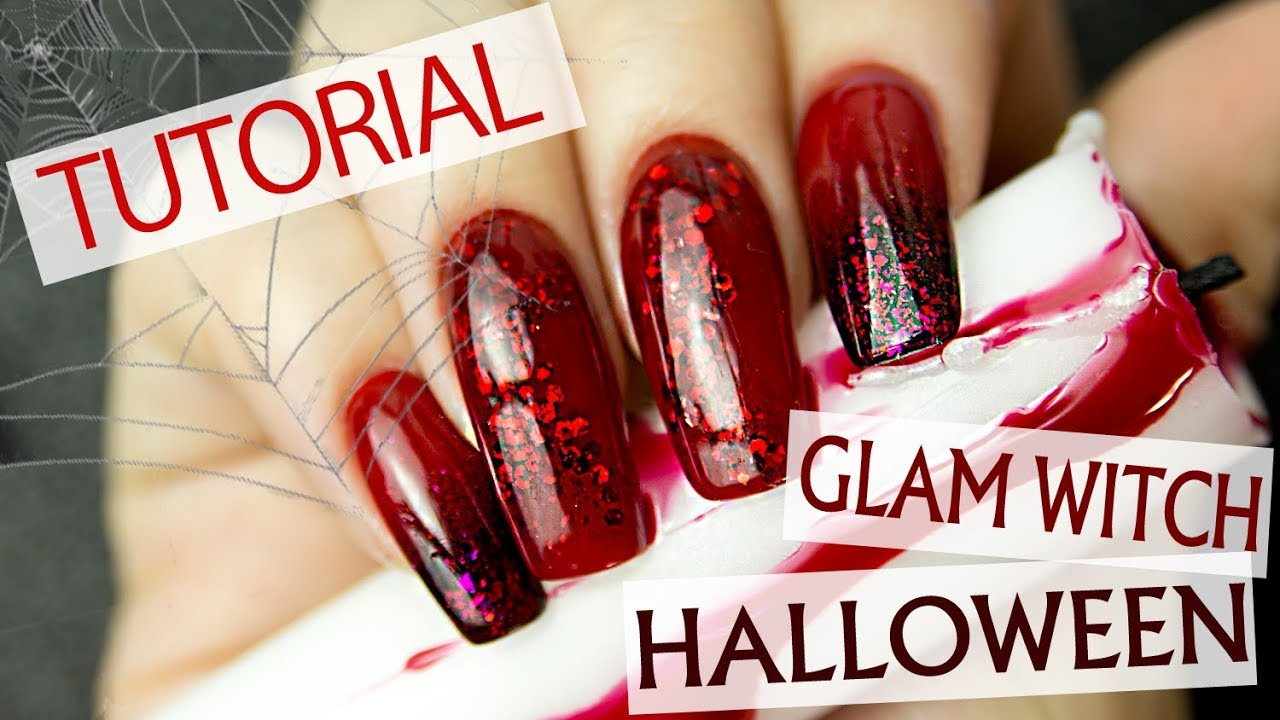 black and red ombre nails tutorial