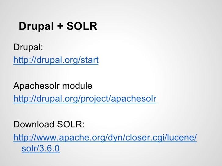 drupal apache solr tutorial