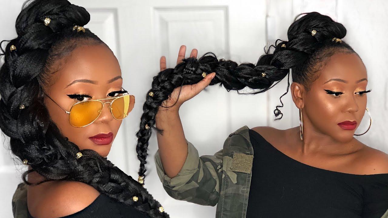 jumbo braid ponytail tutorial