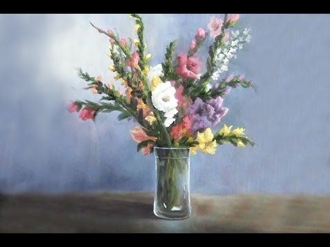 floral landscape acrylic painting tutorial