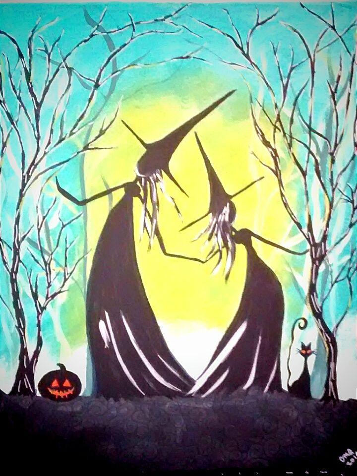 halloween acrylic painting tutorial