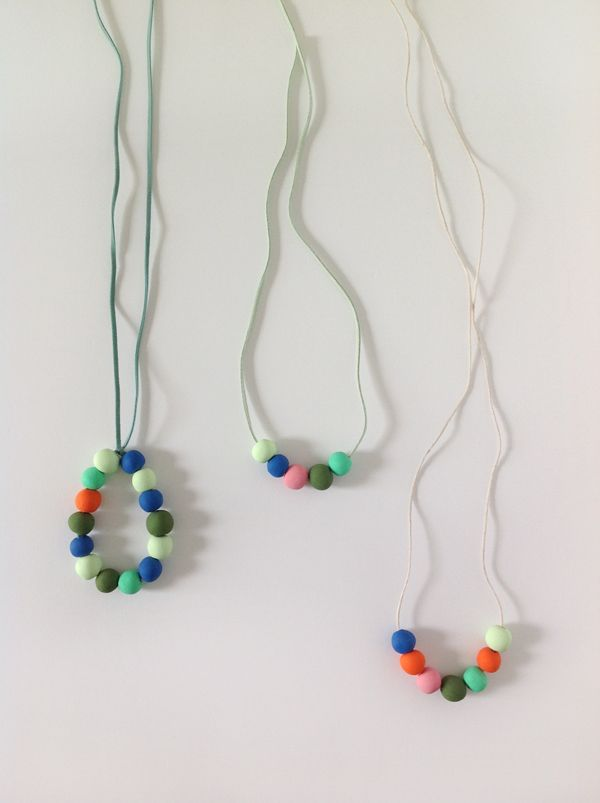 polymer clay necklace tutorial