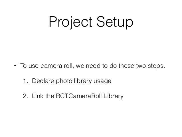 react native camera tutorial