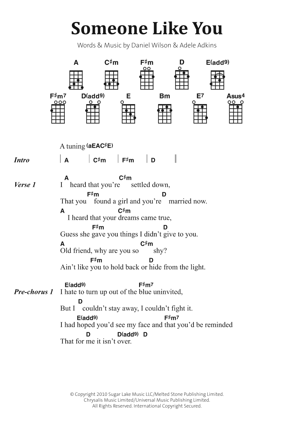 someone like you guitar tutorial