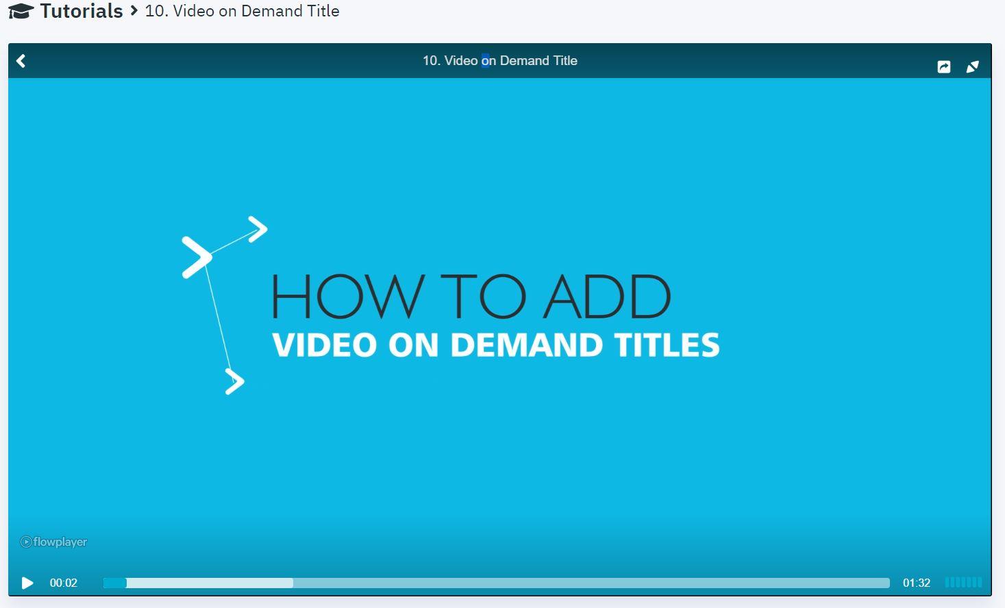 video on demand tutorial