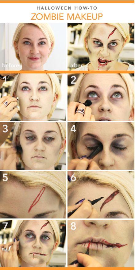 zombie costume makeup tutorial